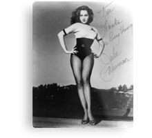 Thanks for Everything, Julie Newmar Metal Print