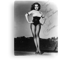 Thanks for Everything, Julie Newmar Canvas Print