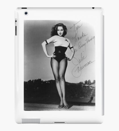 Thanks for Everything, Julie Newmar iPad Case/Skin