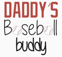 Daddy's Baseball Buddy (Orange) Kids Tee
