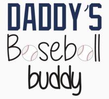 Daddy's Baseball Buddy (Blue) Kids Tee