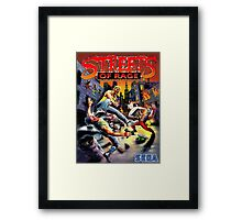 streets of rage 90s Framed Print