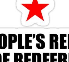 People's Republic of Redfern (Black) Sticker