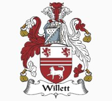 Coat of arms (family crest) for last-name or surname Willet . Heraldry banner for your name. by rita24