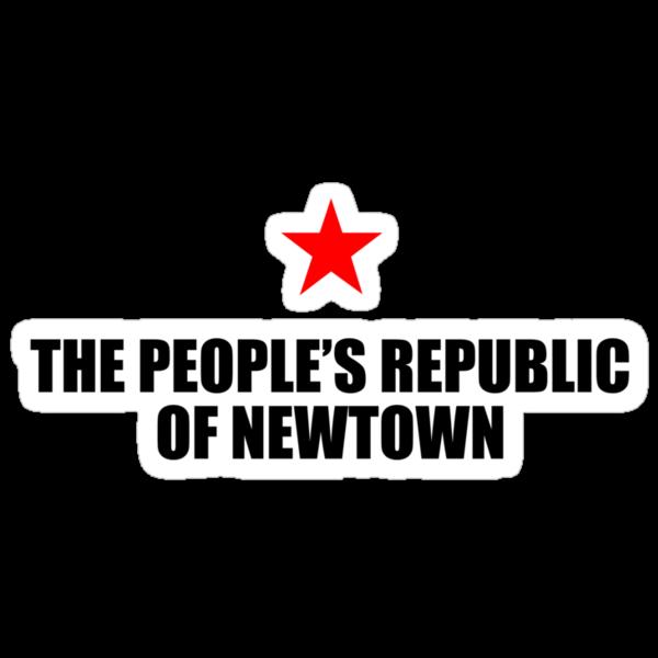 People's Republic of Newtown (Black) by PJ Collins