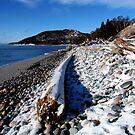 Frozen Pebble Beach on Lake Superior - Marthon Ontario Canada by loralea