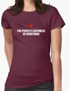 People's Republic of Newtown (White) Womens Fitted T-Shirt