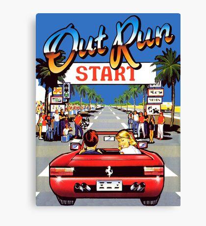 outrun 90s Canvas Print