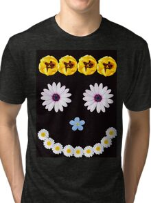 Smilley flower face Tri-blend T-Shirt