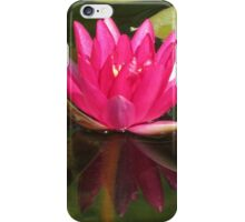 Pink water lilies iPhone Case/Skin