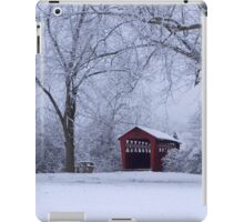 Snow Adorns The John Burrows Covered Bridge iPad Case/Skin