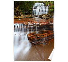 """Liffey Falls and Cascades"" Poster"