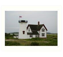 Stage Harbor Lighthouse, Cape Cod, Massachusetts Art Print