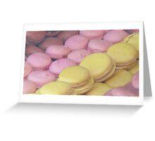 Pastel macaroons Greeting Card