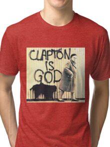 Clapton is God Tri-blend T-Shirt