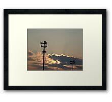 Sunset Over the Baseball Diamond Framed Print