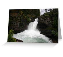 St. Mary's Falls - Glacier National Park, Montana Greeting Card