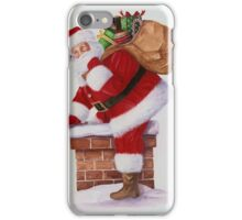 Santa ready to deliver presents down the chimney iPhone Case/Skin