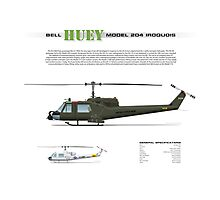 Bell Huey Helicopter (UH-1C gunship) Photographic Print