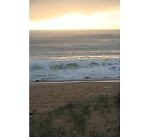 Golden Ocean Waves Photographic Print