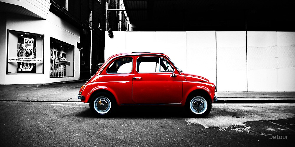 Little Red Car - Fiat Bambino by Detour