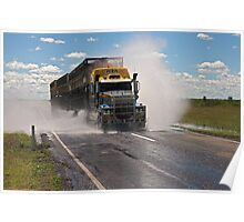 Cattle Truckin Poster