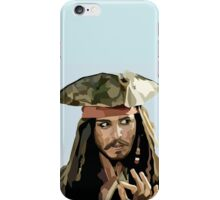 VECTOR PORTRAIT---johnny depp as cpt jack iPhone Case/Skin