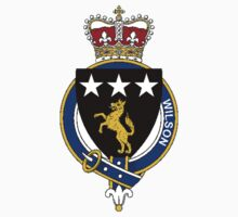 Coat of arms (family crest) for last-name or surname Wilson (Scotland) . Heraldry banner for your name. Kids Clothes