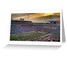 Ralph Wilson Stadium at Dusk Greeting Card