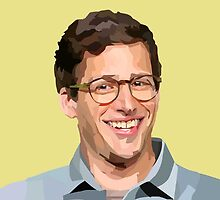 VECTOR PORTRAIT---andy samberg by oliviasprng