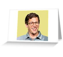 VECTOR PORTRAIT---andy samberg Greeting Card