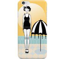 Sunny Beach Umbrella Gatsby Flapper Girl iPhone Case/Skin