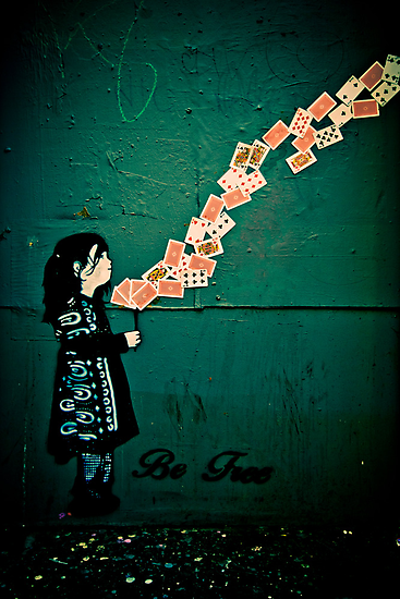 Be free - stencil street art Adelaide by Detour
