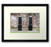 Black Victorian hand pumps Framed Print