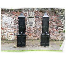 Black Victorian hand pumps Poster
