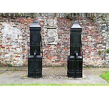 Black Victorian hand pumps Photographic Print