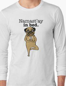 yoga pug Long Sleeve T-Shirt