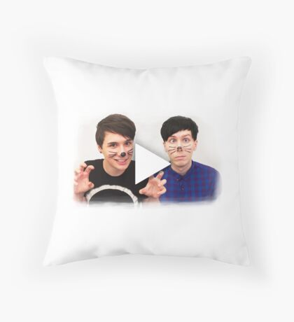 Dan & Phil | YouTube Play Button Throw Pillow