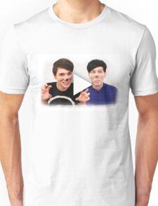 Dan & Phil | YouTube Play Button Unisex T-Shirt