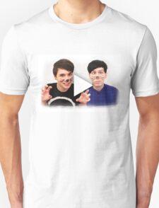 Dan & Phil YouTube Play Button T-Shirt