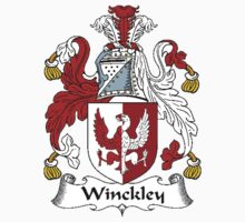 Coat of arms (family crest) for last-name or surname Winckley . Heraldry banner for your name. Kids Clothes