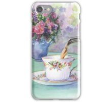Watercolour - afternoon tea iPhone Case/Skin