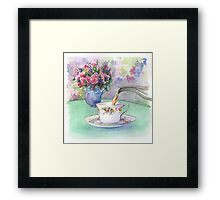 Watercolour - afternoon tea Framed Print