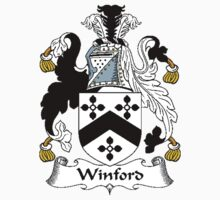Coat of arms (family crest) for last-name or surname Winford . Heraldry banner for your name. Kids Clothes