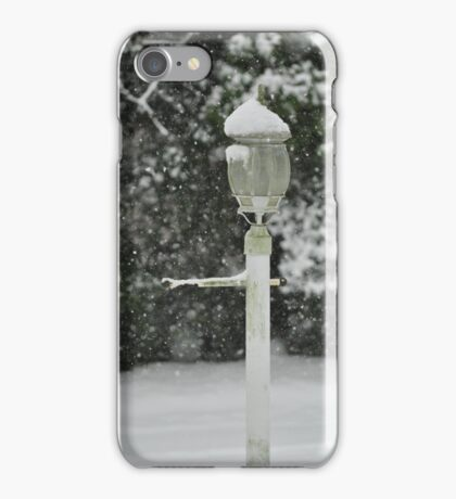 Lamp in Snow, As Is iPhone Case/Skin