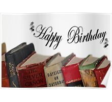 Happy Birthday (older) card - Old fashioned Books Poster