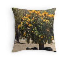Xmas Tree with Cattle Throw Pillow