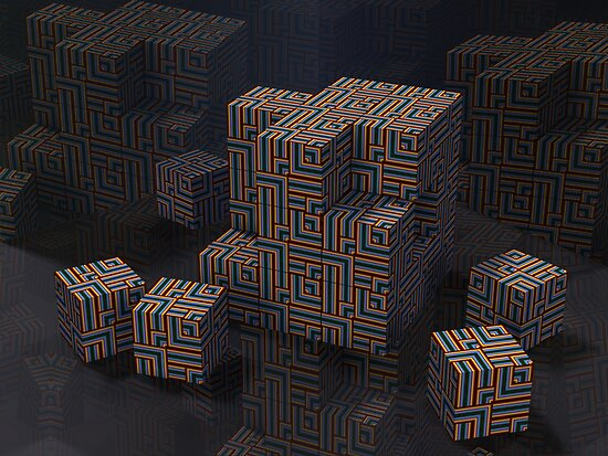 Maze Cube Puzzle by nclames