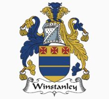 Coat of arms (family crest) for last-name or surname Winstanley . Heraldry banner for your name. Kids Clothes