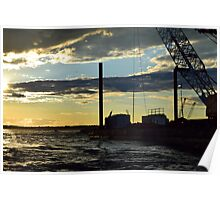 Sunset Over the Barge Poster